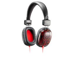 Genius HS-M470 slušalice sa mikrofonom i in-line kontrolama/kontrolom glasnoće, crno/crvene