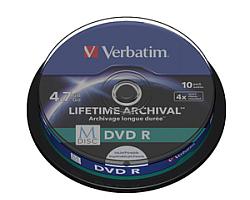 DVD R M-Disc Verbatim 4.7GB 4× Printable 10 pack spindle