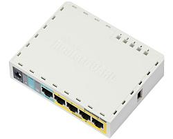 Mikrotik RB750UPr2, hEX PoE lite, 650MHz CPU, 64MB RAM, 5xLAN, (4×PoE izlaz), USB, RouterOS L4, plastično kućište, PSU