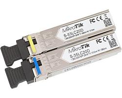 Mikrotik SFP modul Par, S-35LC20D (1.25G SM 20km T1310nm/R1550nm) + S-53LC20D (1.25G SM 20km T1550nm/R1310nm)