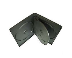 DVD-BOX šesterostruki, crni