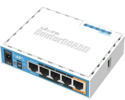 Mikrotik RB952Ui-5ac2nD hAP ac lite, 650MHz CPU, 64MB RAM, 5xLAN, 2.4Ghz 802.11b/g/n/ 5Ghz 802.11ac, USB, PSU, RouterOS L4