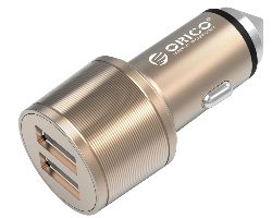 Orico USB auto punjač, 2 porta, aluminium (ORICO UCI-2U-GD)