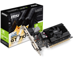 MSI GeForce GT710 1GB DDR3/64-bit PCIe, D-Sub/Dual-link DVI-D/HDMI, Low Profile (GT710-1GD3 LP)