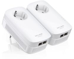 TP-Link AV1000 Powerline Gigabit mrežni adapter, 1000Mbps, 2×Gigabit mrežni ulaz,  dodatna strujna utičnica, HomePlug AV2 (duplo pakiranje)