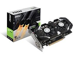 MSI GeForce GTX 1050 Ti 4GT OC, 4GB, GDDR5/128-bit,  PCIe 3.0, DL DVI-D/HDMI/DP
