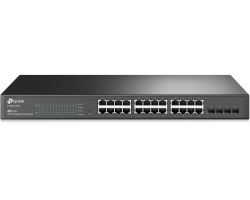 TP-Link JetStream 24-port Gigabit Smart preklopnik (Switch), 24×10/100/1000M RJ45 ports, 4×SFP, 1U 19