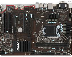 MSI MB H110 PC MATE, S.1151, iH110, DDR4/2133, PCIe, D-Sub/DVI/HDMI, S-ATA3, G-LAN, USB3.1, 8ch., ATX
