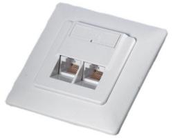 Roline VALUE UTP priključnica Cat.6, (2×RJ45) podžbukna, bijela
