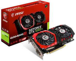 MSI GeForce GTX 1050 Ti GAMING X 4G, 4GB GDDR5/128-bit,  PCIe 3.0, DL DVI-D/HDMI/DP, Dual Fan TORX 2.0