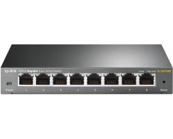 TP-Link 8-port Gigabit Easy Smart preklopnik (Switch), 8×10/100/1000M RJ45 ports, MTU/Port/Tag-based VLAN, QoS, IGMP Snooping