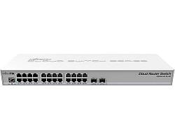 Mikrotik Cloud Router Switch CRS326-24G-2S+RM, 800 MHz CPU, 512MB RAM, 24xG-LAN, 2xSFP+ cage, RouterOS L5 or SwitchOS (dual boot), 1U rackmount kućište, PSU