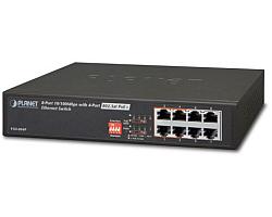 PLANET mrežni preklopnik 8-port 10/100 + 4-port 802.3af PoE Injector, 10