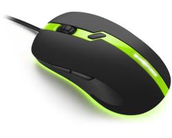 Sharkoon Shark Force Pro optički igraći miš, USB, 3200 DPI, zeleni