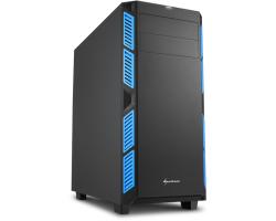 Sharkoon AI7000 Silent Midi Tower ATX kućište, bez napajanja, zvučna izolacija, plavi LED, crno