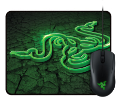 Razer Abyssus 2000 optički igraći miš, USB, crni + Goliathus Control Fissure podloga za miša, bundle