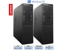 Lenovo S510 SFF PC, Intel Core i5-6400, 4GB DDR4, 240GB SSD, DVD+/-RW, Intel HD Graphics, G-LAN, Windows 10 Pro + tipkovnica+miš