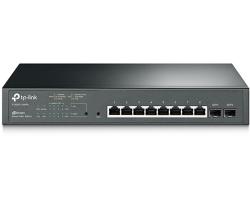 TP-Link JetStream 8-port Gigabit PoE+ Smart preklopnik (Switch), 8×10/100/1000M RJ45 ports + 2×SFP ports (116W)