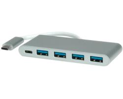 Roline USB3.1 Hub 4-portni sa napajanjem