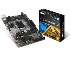 MSI MB H110M PRO-VH PLUS, S.1151, iH110, DDR4/2133, PCIe, D-Sub/HDMI, S-ATA3, G-LAN, USB3.0, 8ch., mATX