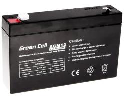 Green Cell (AGM12) baterija AGM 6V 7Ah