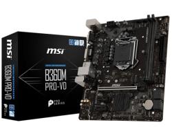 MSI MB B360M PRO-VD, S.1151, B360 DDR4/2666, PCIe, VGA/DVI-D, S-ATA3, G-LAN, USB3.1, 8ch., mATX