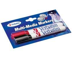 Verbatim komplet 2 flomastera za CD/DVD (crni+crveni)