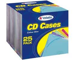 Verbatim CD/DVD Colour Slimcase (pakiranje 25kom.)