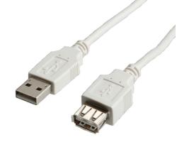 Roline VALUE USB2.0 kabel TIP A-A M/F, 3.0 m (produžni)
