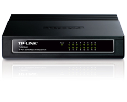 TP-Link 16-port Desktop preklopnik (Switch), 16×10/100M RJ45 ports, plastično kućište