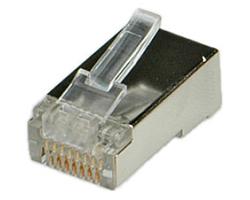 Roline STP Cat.5e konektor RJ-45 8/8, ravni (pakiranje 10 kom.)