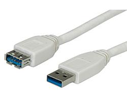 Roline VALUE USB3.0 kabel TIP A-A M/F, 1.8m (produžni)
