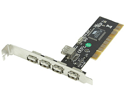 KONIG kontroler USB2.0 4+1 port, PCI