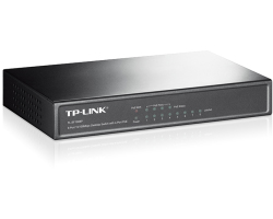 TP-Link 8-port Desktop preklopnik (Switch), 8×10/100M RJ45 ports + 4 PoE ports, metalno kućište