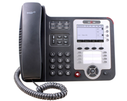 Escene ES410PE Advanced IP Phone, Graphic LCD, customizable screen, 4 SIP accounts, 8 programmable key, BLF, XML, PoE, max. 6 expansion modules