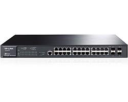 TP-Link 24-port Gigabit L2 Upravljiv PoE preklopnik (Switch), 24×10/100/1000M RJ45 port, 4×SFP podržava MiniGBIC module, (320W)