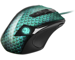 Sharkoon Drakonia laserski igraći miš, USB, 5000dpi, zeleni