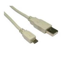 USB2.0 kabel TIP A(M) na Micro B(M), 3.0m, bež