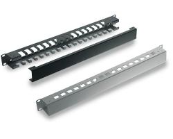 Tecnosteel razdjelnik kablova 1U s poklopcem, crni (F9440N)