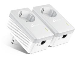 TP-Link AV500 Powerline mrežni adapter, 500Mbps, 1× mrežni ulaz, dodatna strujna utičnica, HomePlug AV (duplo pakiranje)