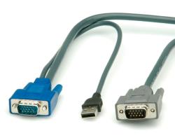 Roline KVM preklopnik kabel PS/2+USB, 3.0m (za 14.01.3376/3377)