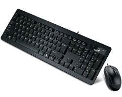 Genius SlimStar C130 tipkovnica+miš, USB, crna