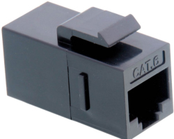 Roline VALUE RJ-45 Keystone Modular Coupler, Cat.6, UTP, crni