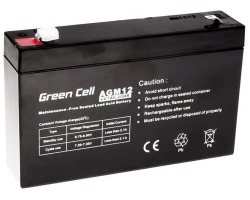 Green Cell (AGM12) baterija AGM 6V 7Ah