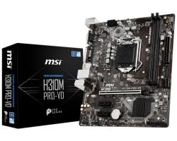 MSI MB H310M PRO-VD, S.1151, H310 DDR4/2666, PCIe, VGA/DVI-D, SATA3, G-LAN, USB3.1, 8ch., mATX