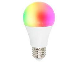 WOOX WiFi Smart LED RGB žarulja E27, 8W, 650lm, 3000K dimabilna, Tuya smart app, glasovna kontrola - Alexa & Google Assistant, Wi-Fi kontrola, Timer/Schedule postavke
