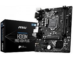 MSI MB H310M PRO-VDH, S.1151, H310 DDR4/2666, PCIe, VGA/DVI-D/HDMI, SATA3, G-LAN, USB3.1, 8ch., mATX