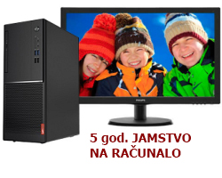 Lenovo V520 Tower, Intel i3-7100, 8GB DDR4, 256GB SSD, DVDRW, Windows 10 Pro 64-bit + tipkovnica/miš + Philips 22