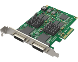 Magewell Pro capture dual DVI, FH PCIe x4, 2-channel HDMI/DVI/VGA/YPbPr/CVBS, Windows/Linux/Mac (11070)