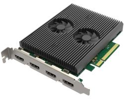 Magewell Pro capture dual HDMI 4K Plus LT, PCIe x8, 2-channel HDMI, Ultra HDMI 4Kp60, Loop-through, Windows/Linux/Mac (11260)